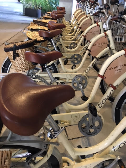 fun ways to see Tampa Florida: Epicurean Hotel bicycles