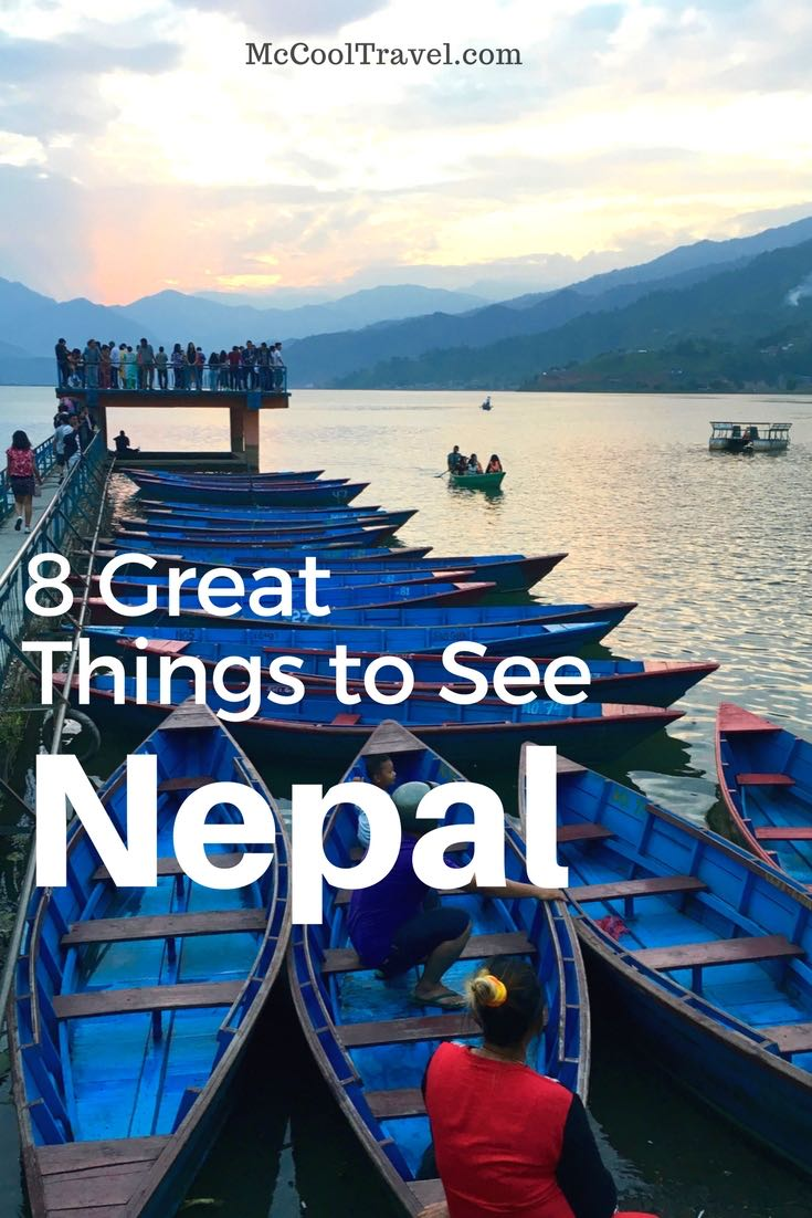 Surprising things to see in Nepal included amazing sunsets, colorful and vivid street art, luxury hotels, and clever transportation and technology. Article and photo by Charles McCool for McCool Travel