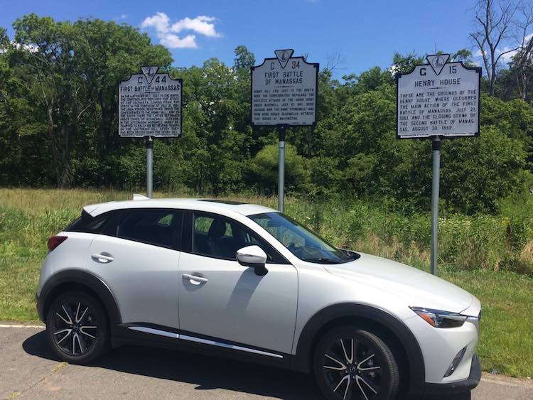 Mazda CX-3 at Manassas Battlefield