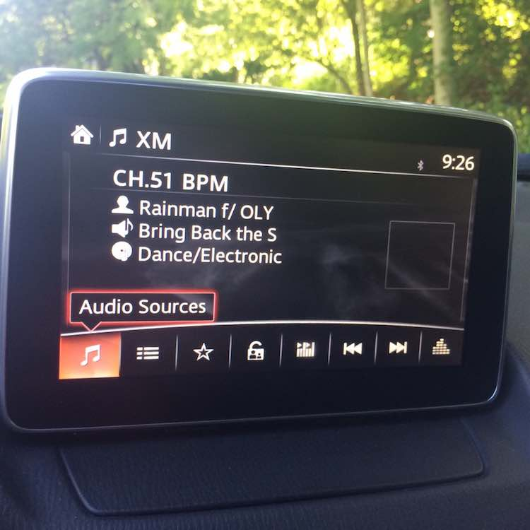 Mazda CX-3 navigation display