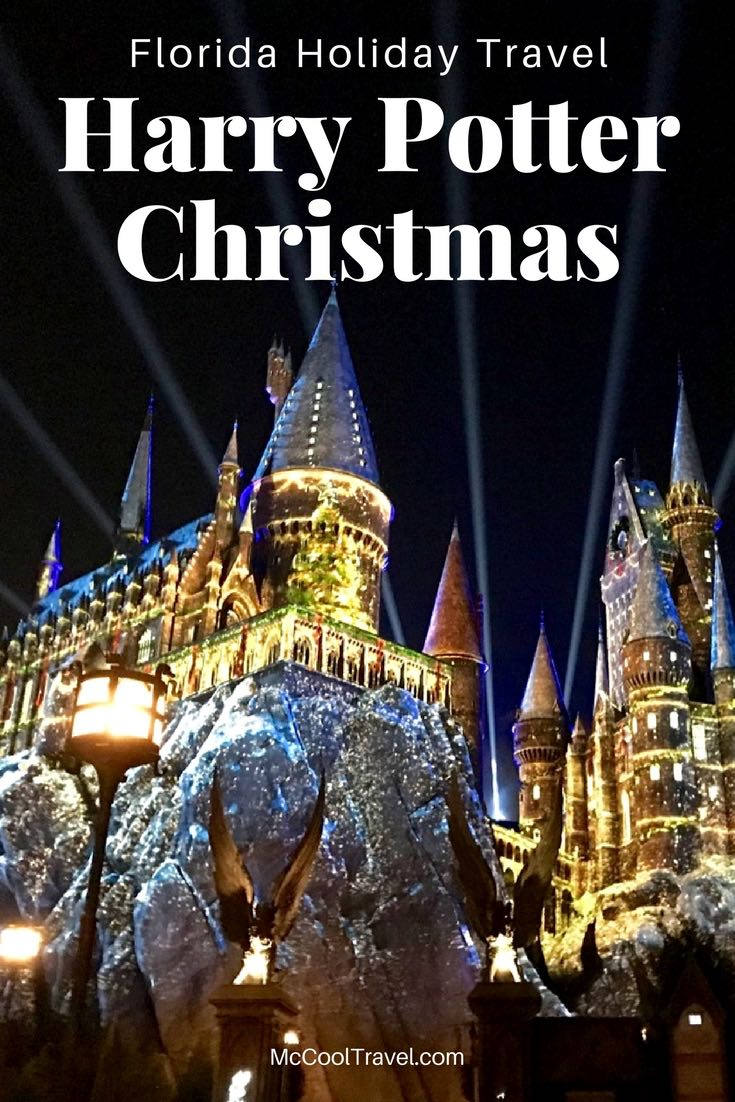 Florida Holiday US Travel | Harry Potter Christmas festivities transform the Wizarding World at Universal Orlando Resortwith holiday decorations, music, and a spectacular light show.