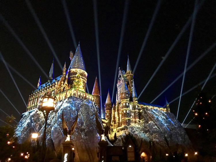Hogwarts Castle, Harry Potter Christmas, Universal Orlando Florida