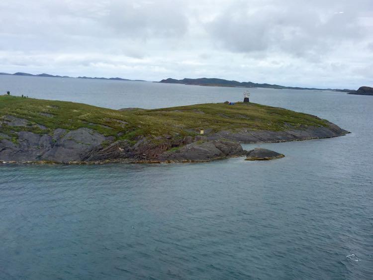 Arctic Circle marker, Viking Cruises Into the Midnight Sun