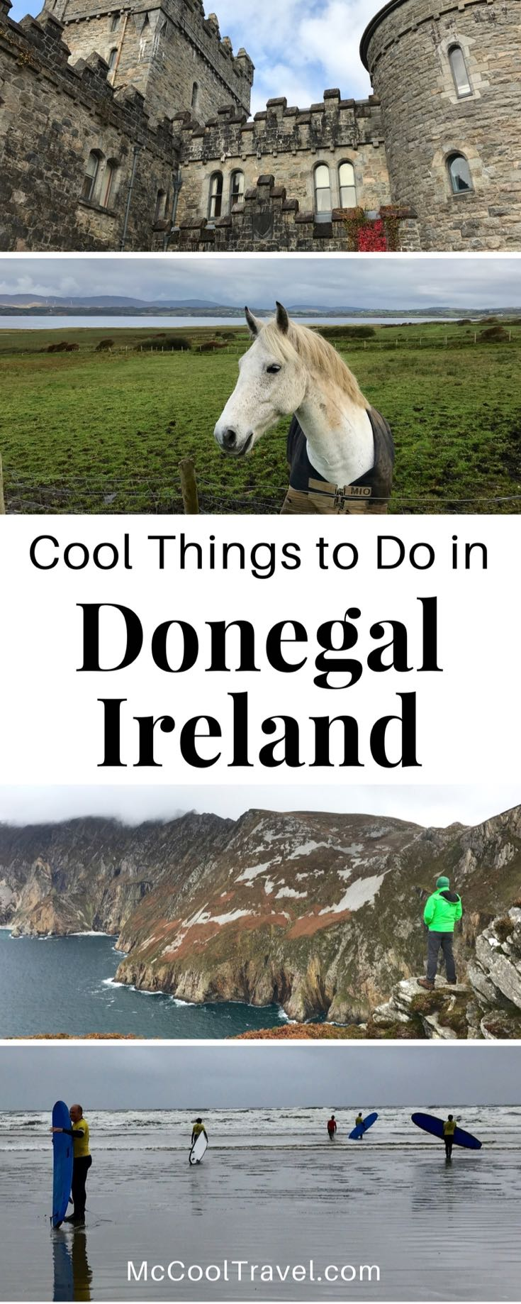 """Ireland travel. Donegal Ireland and Wild Atlantic Way. Cool things to do in Donegal Ireland span the rugged Wild Atlantic Way and explore unique hidden gems of """"the Coolest Place on Earth""""."""