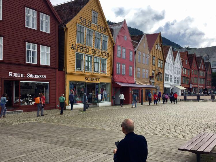 Historic Bryggen Wharf Bergen Norway