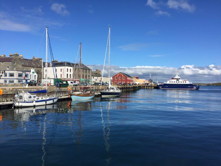 Lerwick port Shetland Islands Scotland