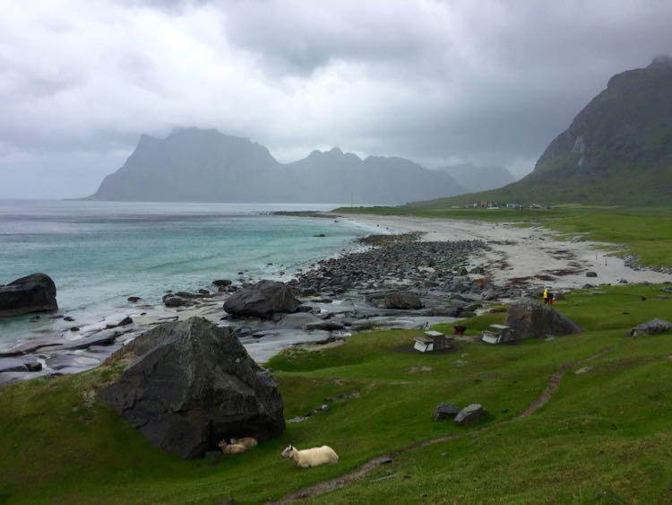 Uttakleiv Beach Lofoten Island Norway