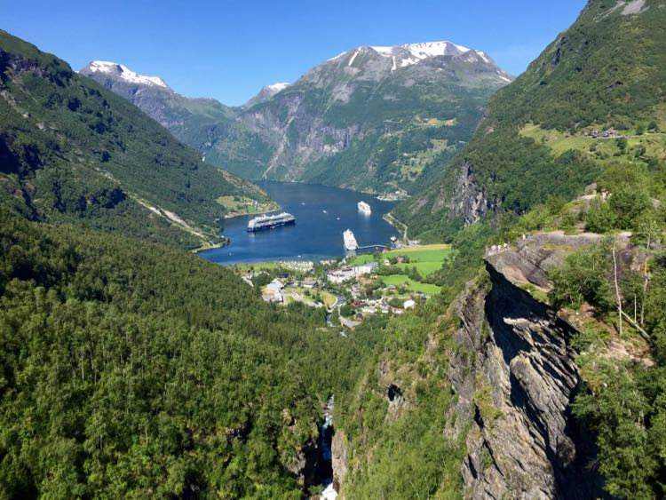 View of Geiranger Norway, Viking Cruises Into the Midnight Sun