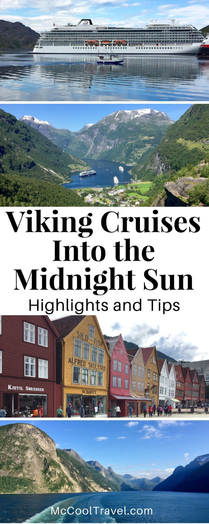 Travel. Viking Cruises Into the Midnight Sun highlights + tips. Norway, United Kingdom. Viking Ocean Cruises Into the Midnight Sun itinerary combines wild and beautiful ports with magical scenic days at sea, on a 15-day journey above the Arctic Circle.