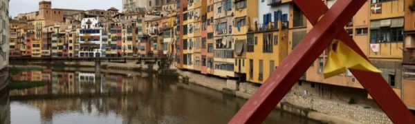 places to visit in Costa Brava Spain: Eiffel bridge in Girona. Article and photo by Charles McCool for McCool Travel